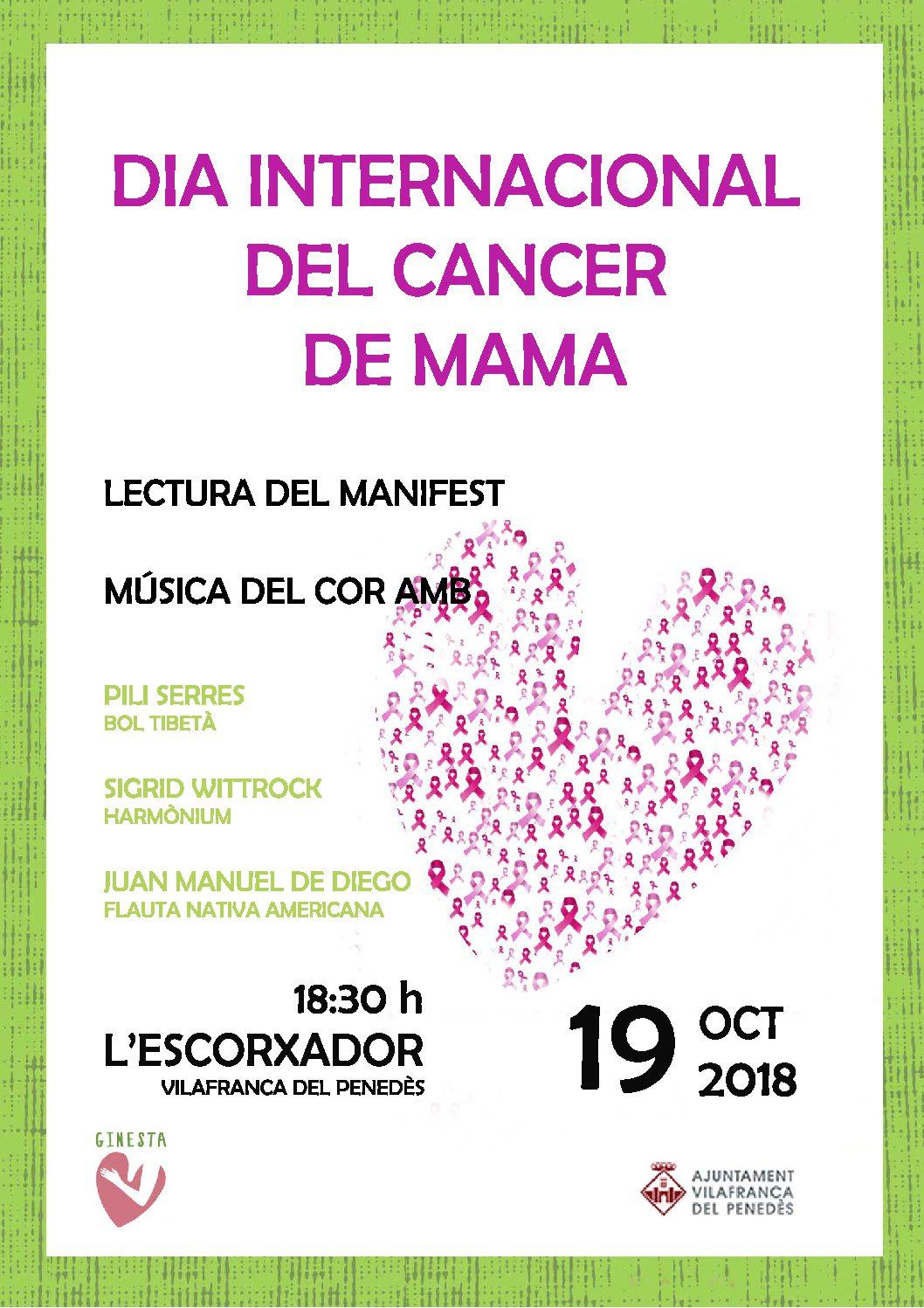19 d'octubre – DIA INTERNACIONAL DEL CANCER DE MAMA